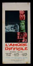 L72 LOCANDINA  L'AMORE DIFFICILE MANFREDI C.SPAAK GASSMAN TILLER LUCIGNANI