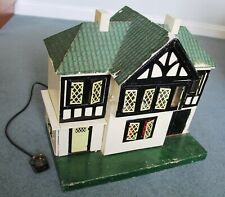 Vintage Wooden Dolls House.  Romside Door & Windows. Electric Lights.