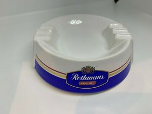 Rothmans, KingSize, Vintage ceramic Advertising Ashtray, 1980s. Made in the U.K.