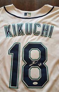 YUSEI KIKUCHI Signed Jersey JSA Certified Seattle Mariners Auto 菊池悠生 #18