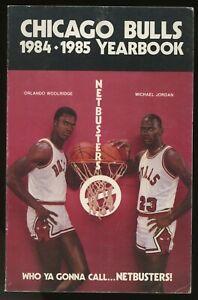 1984-85 Chicago Bulls Net Busters Media Guide Michael Jordan XRC Cover NM