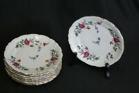 "Vintage Walbrzych Sheraton Rose 9 (6 3/4"") Bread Plates Made In Poland"