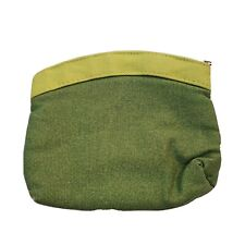 """Ipsy Bag make up bag only Travel size Green Zip Cosmetic Bag 7""""x5"""""""