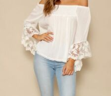Lace Batwing, Dolman Sleeve Floral Tops for Women