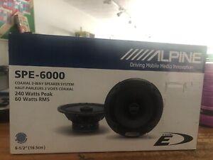 "Alpine SPE-6000 Type-E Series 2-Way Car Speakers 6.5"" 240W Peak 1 Pair"