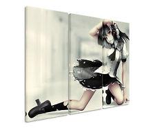 Sex Anime Girl With Camera 3x90x40cm 3tlg Leinwandbild Keilrahmen Fantasy Art