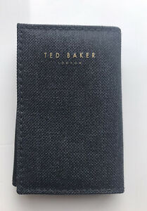 Mens Ted Baker London Grey Mini Coin, Key, Note Wallet New Condition