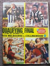 VFL1979 QUALIFYING FINAL FOOTBALL RECORD NORTH MELBOURNE V COLLINGWOOD