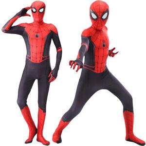 Kids Boy Spider-Man Far From Home Spiderman Zentai Children Cosplay Costume New