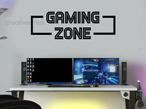 Gaming Zone Wall Stickers Decal Mural Gamers Wall Stickers GZ Kids Wall Stickers