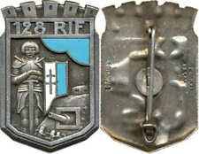 128° Régiment d'Infanterie de Forteresse, dos lisse embouti, D.Ber.Dép.