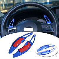 Blue Aluminum Steering Wheel Shift Paddle Shifter Extension For Subaru BRZ WRX