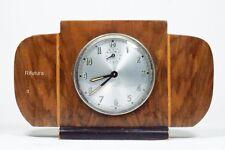 Vecchi orologio meccanico DIEHL da tavolo legno noce germany clock Art Deco-10H