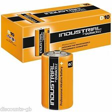 10 Duracell D Industrial Alkaline Batteries LR20 MN1300 - Box of 10