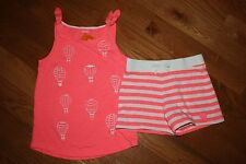 NWT Gymboree Hop & Roll Size 6 Knit Set Pink Hot Air Balloon Top Striped Shorts