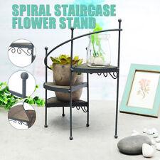 Metal Spiral Showcase Plant Stand Display Holder Home Outdoor Patio Garden Decor