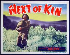 NEXT OF KIN 1942 Basil Sydney, Reginald Tate, Nova Pilbeam EALING US LOBBY SET