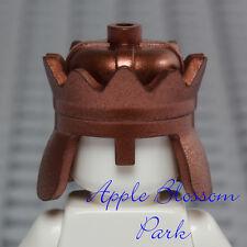 LEGO Minifig METALLIC BRONZE CROWN - Copper King Prince Castle Kingdom Head Gear