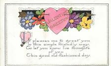 Valentine Postcard Helen Sino Erkki Seppa Family Genealogy Vintage Greeting Card