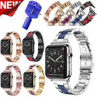 38/40/42/44mm Stainless Steel Metal Strap Bracelet Fr Apple Watch iWatch 1 2 3 4