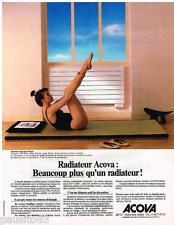 PUBLICITE ADVERTISING 095  1988  ACOVA    radiateur panneau extra plat