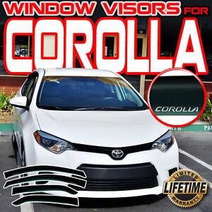 For 2014-2019 Toyota Corolla Side Window Door Visor Vent Guards Rain Deflector