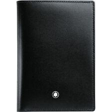 Portafoglio Spagnolo Leather Meisterstück Wallet 4 cc 11987 pelle nera verticale