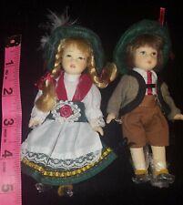 "Bisque German National Costume Boy & Girl 6"""