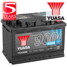 Yuasa YBX9096 Car Battery AGM Stop Start Plus 12V 760CCA 70Ah T1 Terminal