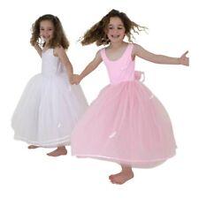 Princesa Hada GB, NIÑA ROSA LARGO tutú vestido de gala 4/6 años