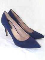 dorothy perkins scarpe blu pelle scamosciata decollete taglia uk 7 eu 41