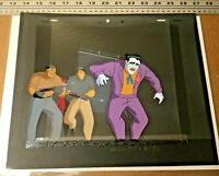 Batman Animated Series (1992) Production Background obg Cels Joker Harley Quinn