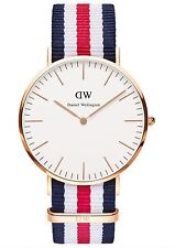Daniel Wellington Watch * 0102DW Classic Canterbury 40MM NATO Strap #crazy1212