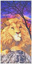 "30""x60"" African Lion Beach Towel 100% Cotton"