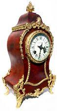 Antique Red Shell Boulle Mantel Clock With Ormolu Mounts J W Benson London