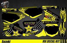 Kit Déco Moto / Mx Decal Kit Suzuki RM 65 / 85 - Rockstar