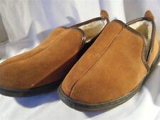 LB Evans Men's Suede Slippers Pile Lined Sz 10EEE Klondike 9602 Mens
