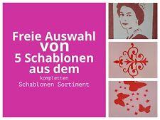 5 Schablonen Set Tattoo Fotowand Mylarfolie Stencil Wandtattoo Wandbild V4 Tiere