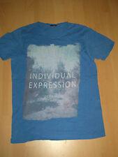 Tolles T-Shirt f. Jungs Gr. M von Jack & Jones Premium blau mit Foto Aufdruck