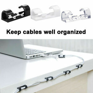 20xCable Clips Management Holder Cord Wire Line Organizer 30CM Self-Adhesive New