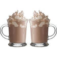 2 x 400 ml Aroma vetro tazze tè caffè HOT CIOCCOLATO LATTE CAPPUCINO ESPRESSO CUP