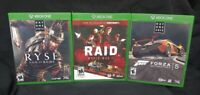 Forza 5, Raid, Ryse Son of Rome - Microsoft Xbox One Game Lot - Tested ! XBOX 1