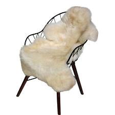 peau de Mouton Crème Beige Tacheté 90-100 cm mérinos fourrure naturelle