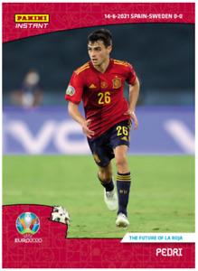 14k FB No Cancel Pedri Spain FC Barcelona UEFA Euro 2020 Panini Instant Card #11