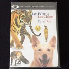 DK Eyewitness Educational Cat Dog DVD Éducatif English Française Chiens & Félins