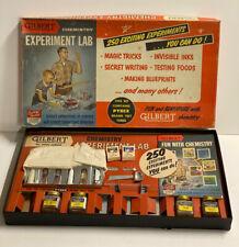 1958 GILBERT CHEMISTRY EXPERIMENTAL LAB W/BROCHURE MIB.