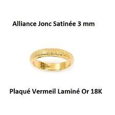 Alliance T52 Jonc Satinée 3 mm Plaqué Vermeil Laminé Or 18K