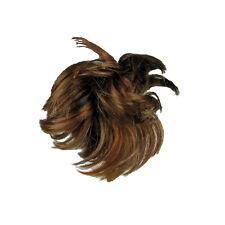 Pezzo capelli estensioni sintetiche CHIGNON confuso LOOK SHADE Auburn naturale donna