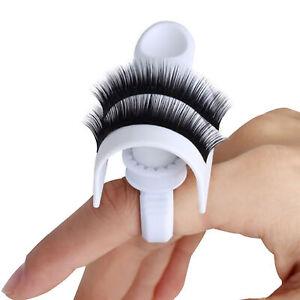 Eyelash Strip Holder Pallet Glue Ring Cups Set Volume 3D Extensions Set
