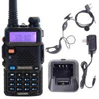 BAOFENG Black UV 5R VHF/UHF 136-174/400-480 MHzFM Dual Band Two Way Radio Talkie